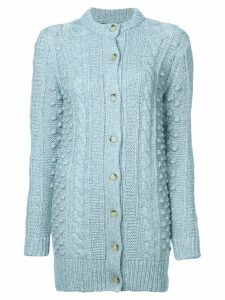 Alexa Chung cable knit cardigan - Blue
