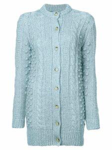 Alexa Chung cable knit cardigan - Blue