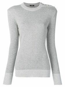 Balmain buttoned shoulder jumper - Grey