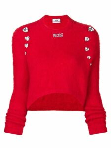 Gcds embellished fitted sweater - Red