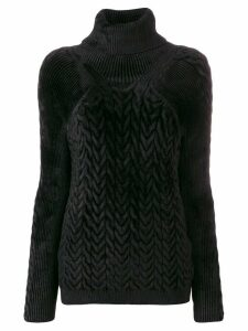 Haider Ackermann cable knit jumper - Black