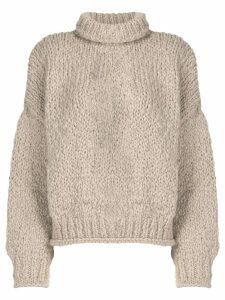 Snobby Sheep mock neck knitted sweater - NEUTRALS