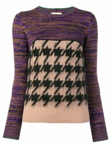 Nº21 mixed pattern jumper - NEUTRALS