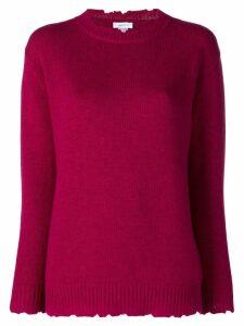 Avant Toi distressed crew neck sweater - PINK