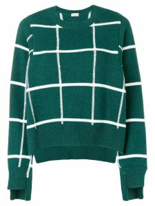 MRZ grid patterned sweater - Green