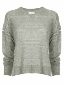 Isabel Marant Étoile side slit V-neck sweater - Grey