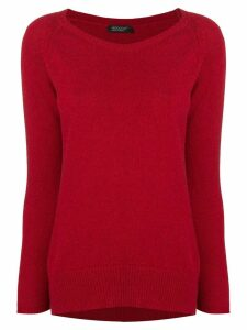 Aragona cashmere scoop neck sweater - Red