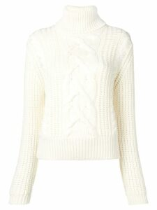 Jacob Cohen patterned loose sweater - White