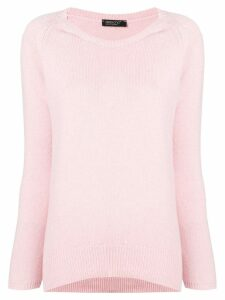 Aragona cashmere scoop neck sweater - PINK