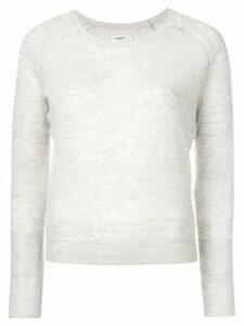 Isabel Marant Étoile long sleeved melange knit top - Grey