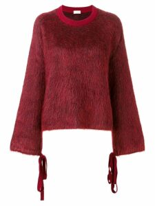 MRZ round neck jumper - Red