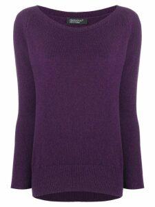 Aragona cashmere scoop neck sweater - PURPLE