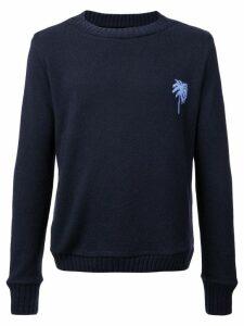 The Elder Statesman palm tree regular sweater - Blue