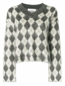 Pringle of Scotland argyle v-neck jumper - Neutrals