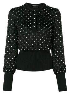 Tom Ford embellished knitted top - Black