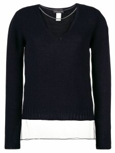 Fabiana Filippi sheer knitted sweater - Blue