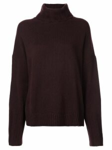 Nili Lotan oversized roll neck jumper - Red