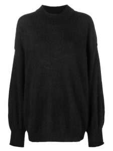 Fine Edge oversized turtleneck sweater - Black