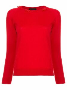 Simone Rocha bow detail sweater - Red
