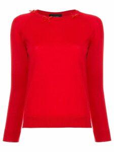 Simone Rocha bow detail sweater - Red