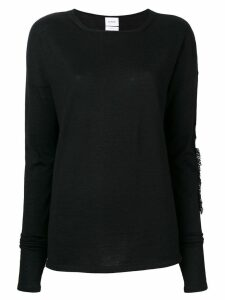 Barrie fringe detail jumper - Black