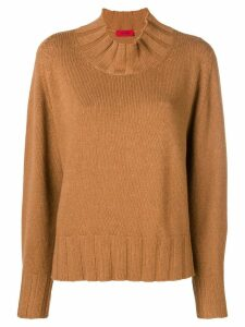 The Gigi mock neck jumper - Brown