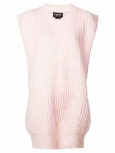 Calvin Klein 205W39nyc V-neck knitted top - PINK