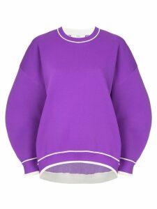 Tibi sculpted sweatshirt - Purple