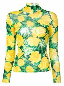 Richard Quinn floral print jersey - Yellow