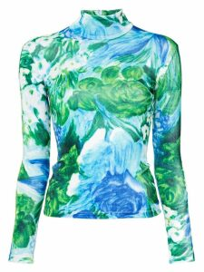 Richard Quinn floral printed jersey - Blue