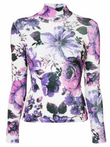 Richard Quinn floral print jersey - PURPLE