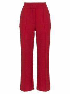 Joseph Ridge seam wool-cotton blend trousers - Red