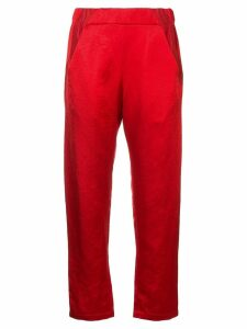 Zero + Maria Cornejo satin-twill trousers - Red