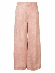 Roland Mouret high waisted wide leg trousers - PINK