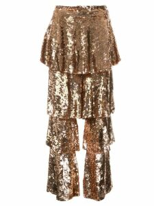 Osman tiered sequinned trousers - Metallic