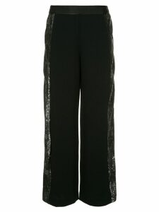 Layeur Evelyn sequin embellished trousers - Black
