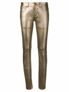 Saint Laurent metallic skinny jeans - GOLD