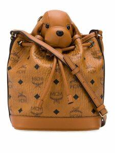 MCM Dog bucket bag - Brown
