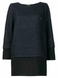 Chanel Pre-Owned layered straight blouse - Blue