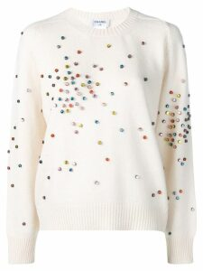 Chanel Pre-Owned cashmere embellished jumper - White