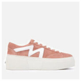 MSGM Women's Lace-Up Cupsole Trainers - Pink/White