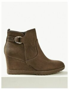 M&S Collection Wedge Heel Ankle Boots