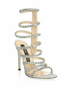 Crystal-Embellished Gladiator Sandals