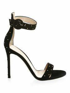 Portofino Studded Suede Strap Sandals