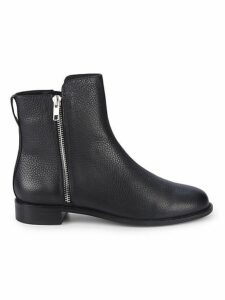 Leather Dual Zip Ankle Boots