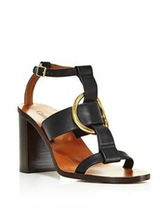 Chloe Women's Rony Leather T-Strap Sandals