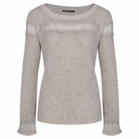 Mado Et Les Autres  Ultra-soft sweater with frill sleeves  women's Sweater in Beige