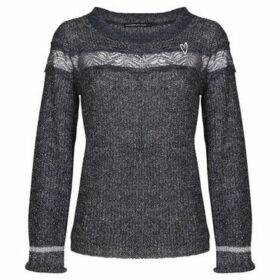 Mado Et Les Autres  Ultra-soft sweater with frill sleeves  women's Sweater in Grey