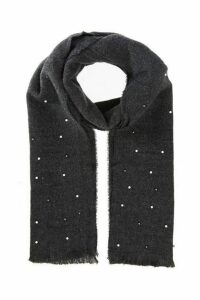 Quiz Grey Pearl Knit Scarf