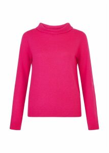 Audrey Wool Blend Sweater Hot Pink